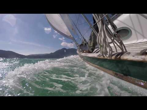 Sailing Leela in Howe Sound South of Gambier Island!