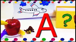 The letter A Preschool , Learn Words with Toys & Colors ABC || How To Write A ?