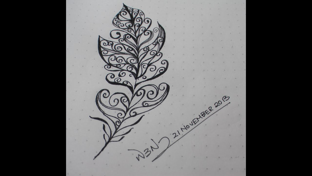 Feather Doodle (21 Nov...