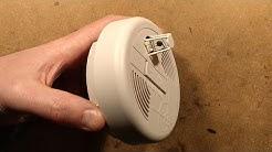 Inside a heat detector alarm.  (Not a smoke detector.)