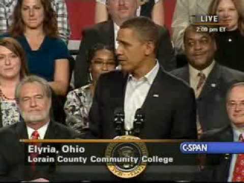 Pres. Obama discusses jobs (3), economy at Ohio town hall