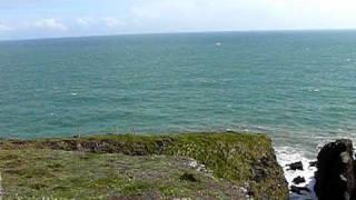 Ardmore Head - Cliffs in windy weather