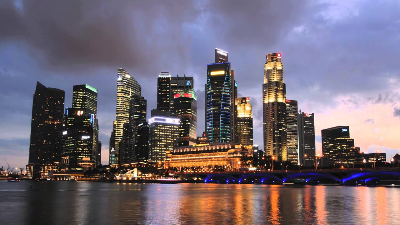 singapore skyline time lapse youtube. Black Bedroom Furniture Sets. Home Design Ideas
