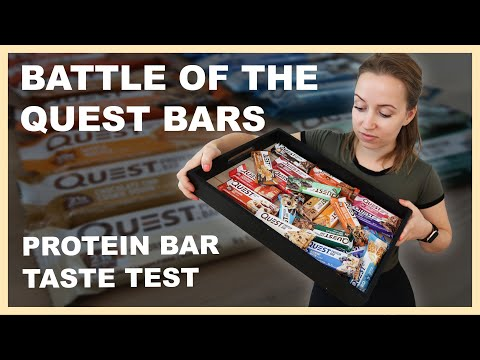 QUEST BAR TASTE TEST REVIEW | We tried all of them!