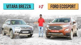 2018 Maruti Vitara Brezza vs 2018 Ford Ecosport Comparison in Hindi