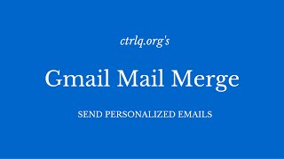 Mail Merge for Gmail with Attachments