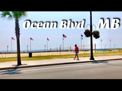 Myrtle Beach Ocean Boulevard Sidewalk POV