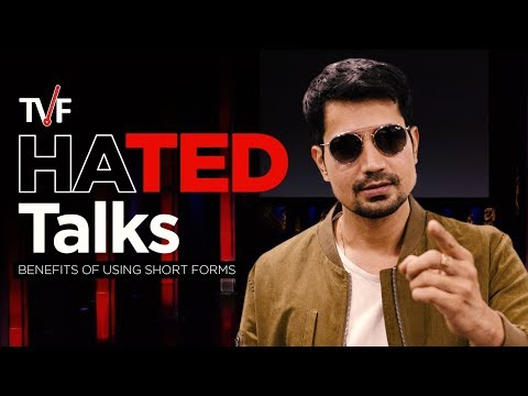 TVF'S HATED Talks | Benefits of Using Short Forms feat. Sumeet Vyas