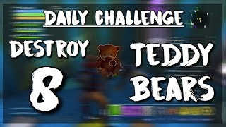 EASY WAY TO COMPLETE DAILY CHALLENGE! Destroy 8 Teddy Bears | Fortnite Save The World