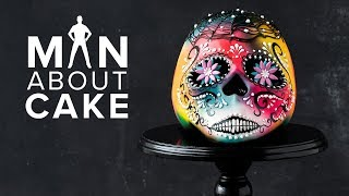#CakeSlayer Halloween: SUGAR SKULL CAKE  Man About Cake with Joshua John Russell