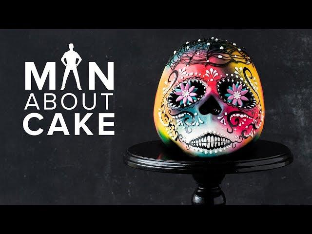 #CakeSlayer Halloween: SUGAR SKULL CAKE | Man About Cake with Joshua John Russell