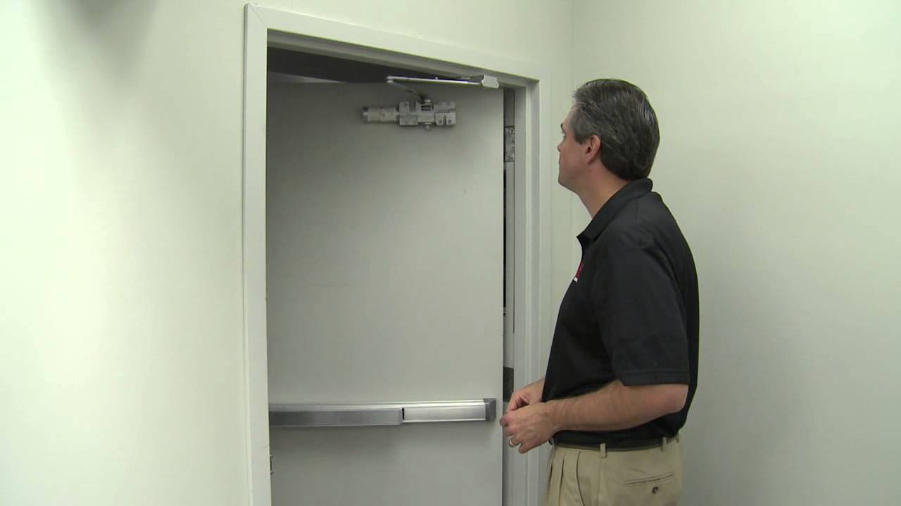 & Adjusting the Hager Companies 5100 Door Closer - YouTube