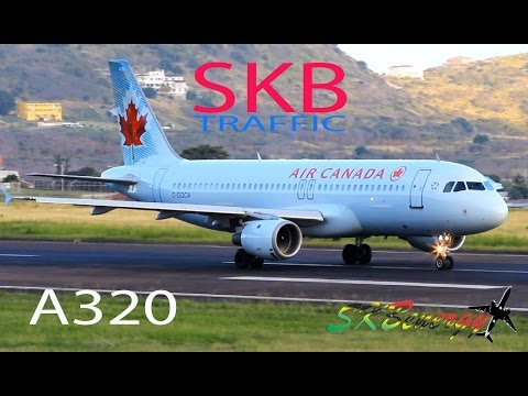 Air Canada A320 in awesome action @ St. Kitts Robert L. Bradshaw Int'l Airport