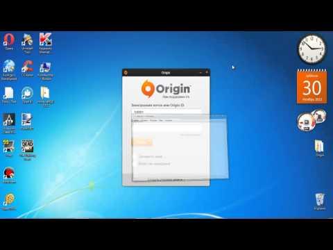 видео урок как создать учетную запись в origin