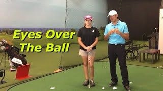 Eyes Over The Ball When Putting