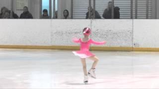 На льду Теслина Арина (юный фигурист)