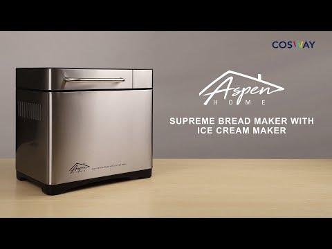 Aspen Home Supreme Bread Maker With Ice Cream Maker