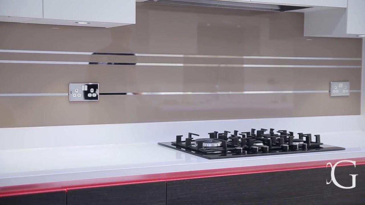 Mirror Striped Designer Glass Kitchen Splashback Creoglass 01923 819 684 Youtube
