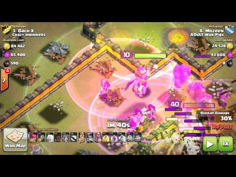 Clash of Clans   Valkyrie War & Farm Attacks for TH11 3 Stars!!
