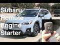 Subaru Remote Engine Start Factory Option