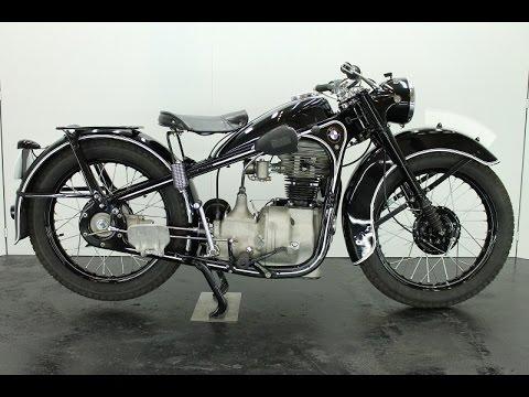EMW R35 1952 350cc - vintage motorcycle - start up