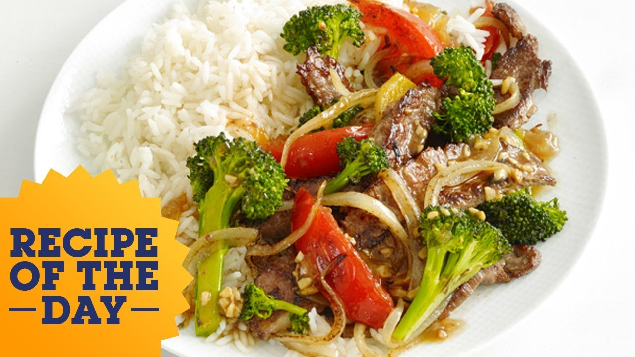 Recipe of the day chinese beef with broccoli food network youtube recipe of the day chinese beef with broccoli food network forumfinder Images