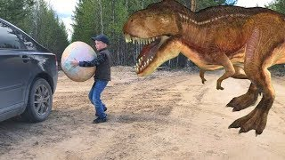 Dinosaur invasion, stole dinosaur egg Похищаем яйцо Динозавра