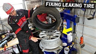 HOW TO FIX TIRE THAT LEAKS AROUND THE SIDEWALL