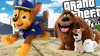 The Secret Life of Pets VS Paw Patrol MOD (GTA 5 PC Mods Gameplay)