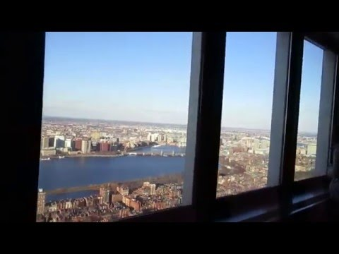 Boston, 50th floor of Prudential Tower, Beautiful View from 50 floor