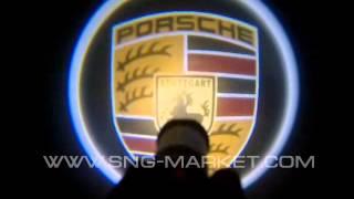 Лазерный LED проектор - подсветка логотипа автомобиля под дверь с быстрой установкой