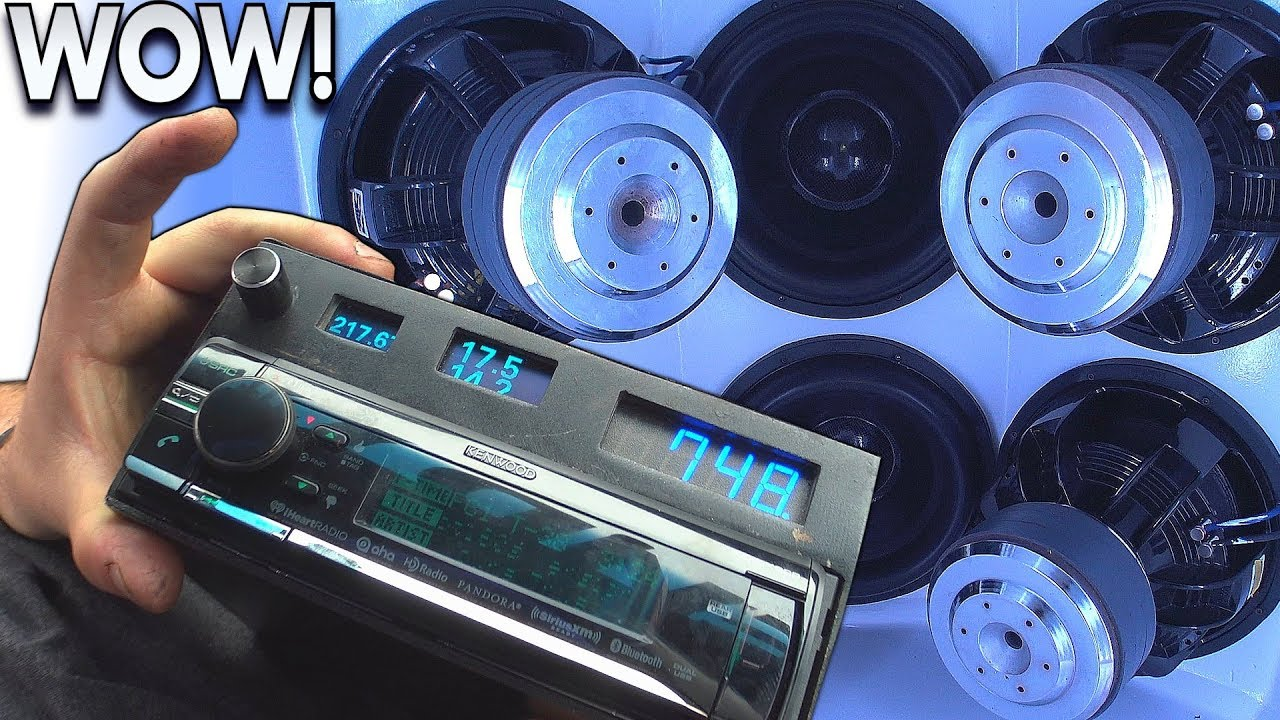 hight resolution of overkill car audio install breaks glass windshield sundown subwoofers insane loud bass songs