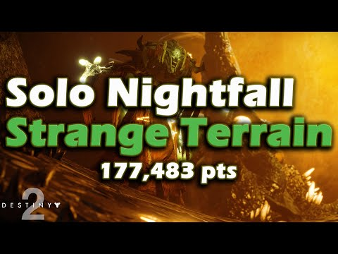 Solo Nightfall - Strange Terrain - 100,000+ pts - Guide / Walk through - Destiny 2 thumbnail
