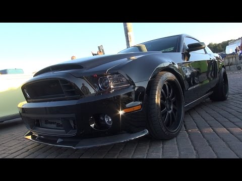 ALL BLACK 850-hp Shelby GT500 Super Snake - sound and acceleration