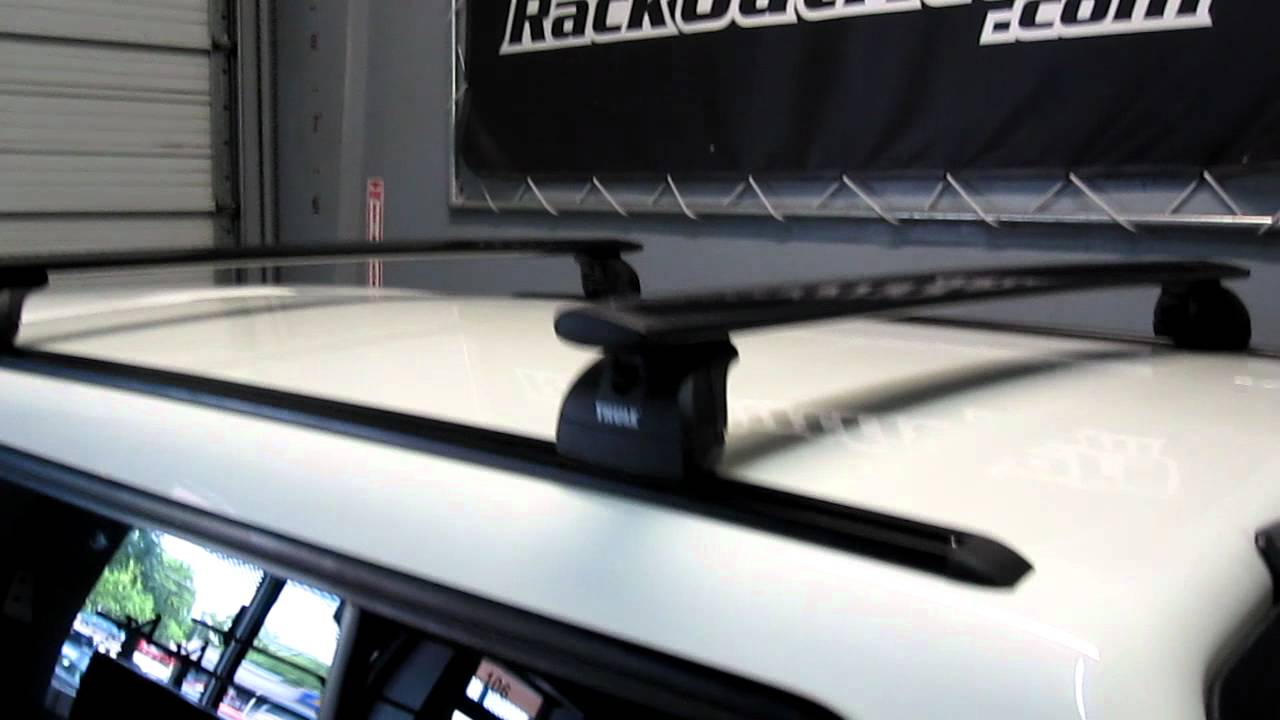 Truck C&er Shell Topper with Thule 460R Podium AeroBlade Base Roof Rack on Tracks by Rack Outfitters - YouTube : thule canopy roof rack - memphite.com