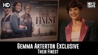 Gemma Arterton Exclusive Interview - Their Finest streaming