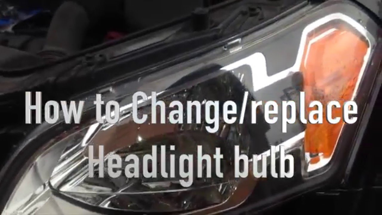 How to Change / Replace Headlight Bulb from Kia Soul 2010 ...