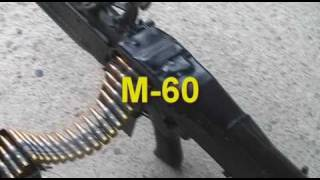 Firing a M60 machine gun fully automatic