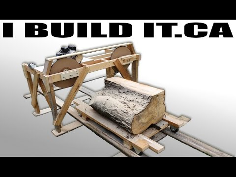 Making A Wooden Band Saw Mill From Scratch - Full Build