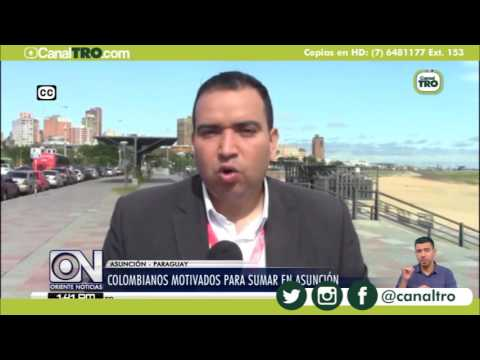 Colombianos motivados para sumar en Asunción