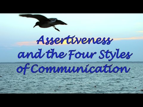 Assertiveness And The Four Communication Styles