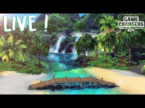 ÎLES PARADISIAQUES EN LIVE ! || LES SIMS 4