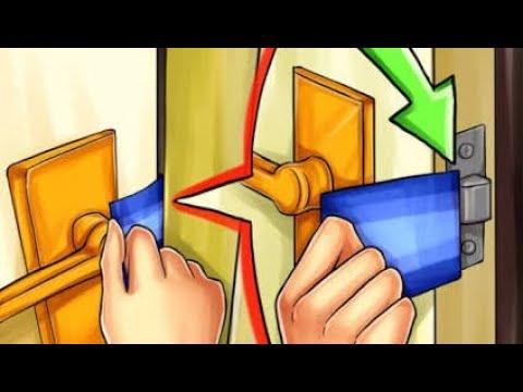 Life-Hack How to Open Indian Door Using Notebook