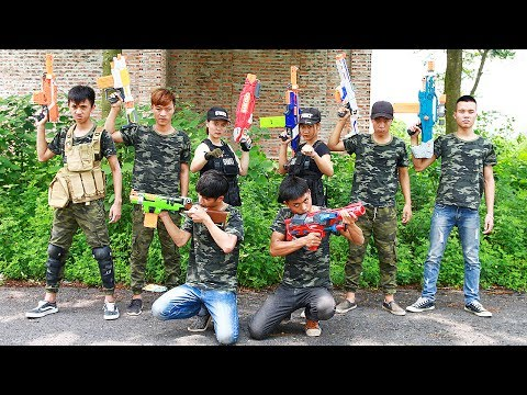 Superhero action Spiderman Detective GIRL Nerf guns Kidnapper Special Police Rescue S.W.A.T Nerf war