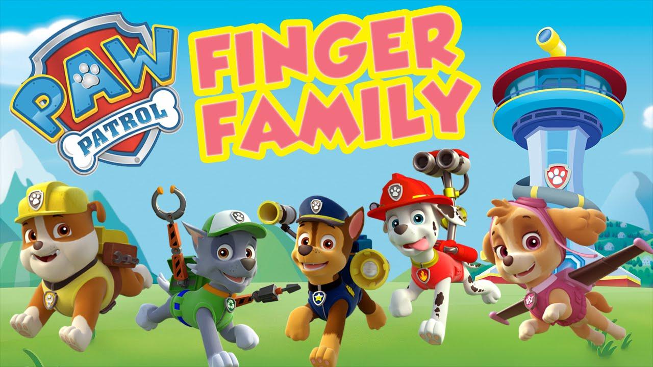 Paw Patrol Finger Family Song Nursery