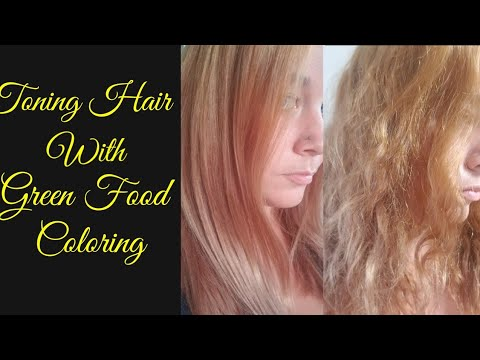 Orange Yellow Hair Vs Green Food Coloring Diy Toner Youtube