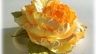 DIY Квітка з фоамірану для початківців. Украшение из фоамирана для начинающих.