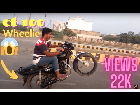 Modified Bike CT 100  |    With new colors  |  Stunt on ROAD