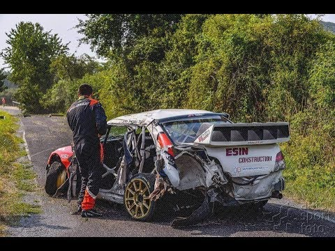 SUBARU IMPREZA S12 WRC BIG CRASH Rally Košice 2015