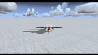FSX - weird north pole landing - twin otter